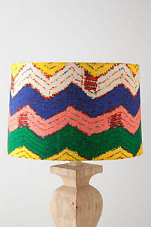 Chevron-Banded Drum Shades