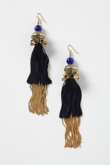 Crowned Tassel Earrings