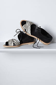 Zebra Laced Sandals