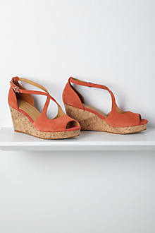 Crisscrossed Cork Wedges