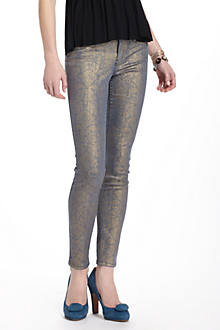 Level 99 Janice  Foil-Printed Skinny