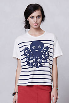 Sailor Stripe Octopus Tee