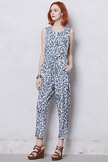 Blue Toile Jumpsuit