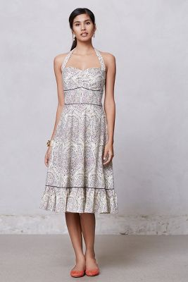 Swirled Paisley Halter Dress