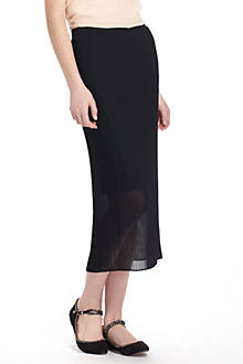Fanfold Midi Pencil Skirt
