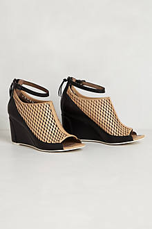 Perforated Peep-Toe Wedges