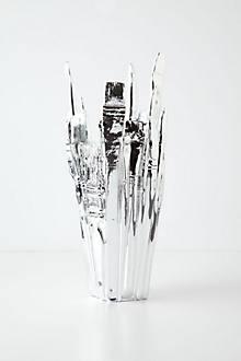 Silver Palette Vase