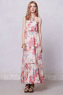 Blooming Silk Maxi Dress