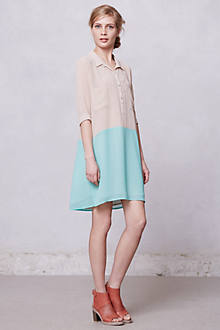 Bi-Tonal Shirtdress