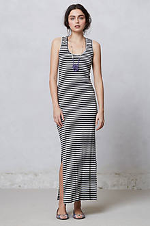 Striped Column Maxi Dress