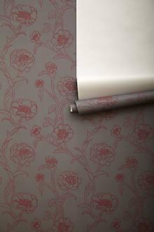 Inked Peonies Wallpaper