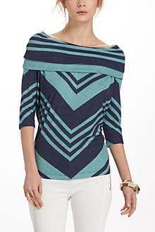 Chevron Shawl Top