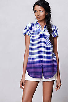 Dipped Gingham Buttondown