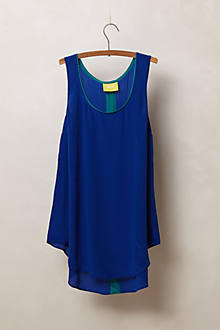 Piped Silk Tank