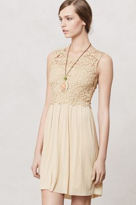 Honeyed Lattice Dress