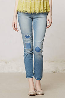 Pilcro Stet Slim Ankle Distressed Jeans