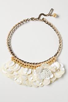 Milk Flower Bib Necklace