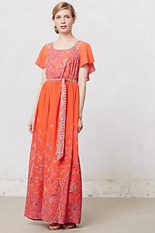 Blushed Paisley Maxi Dress