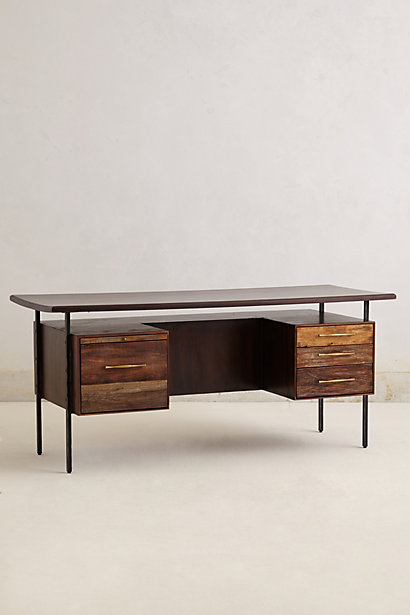 Sale alerts for Anthropologie Rustic Wood Desk - Covvet