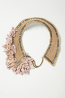Blushing Pearl Bib Necklace