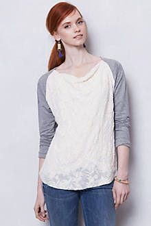 Embossed Lace Cowlneck