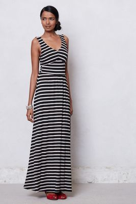 Striped Empire Day Dress