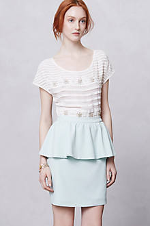 Minted Peplum Skirt