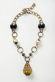 Brinjal Pendant Necklace