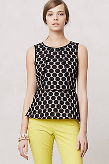 Piped Peplum Blouse