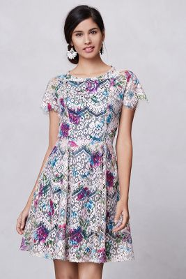 Lacepaint Flared Dress