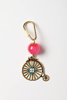 Brass Bike Keychain
