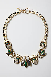 Sparked Scarab Necklace