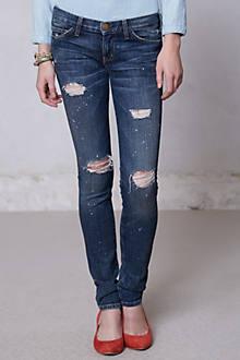 Current/Elliott Destroyed Skinny Jeans