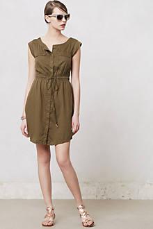 Drawstring Safari Dress