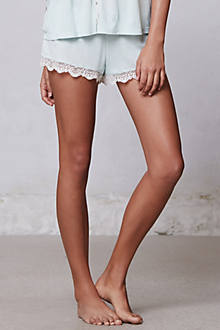 Peppermint Lace Trim Shorties
