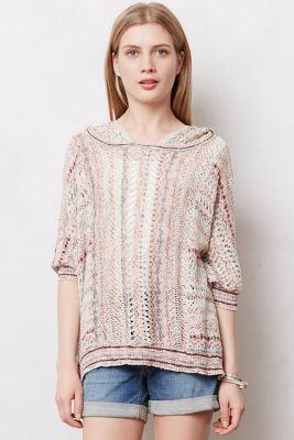 Spliced Eyelet Poncho