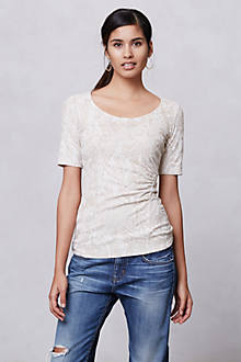 Ruched Jacquard Tee