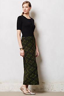 Fractured Maze Midi Skirt