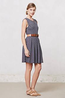 Pleated Dots Dress
