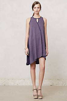 Draped Amethyst Swing Dress