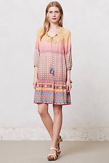 Blushed Spectrum Peasant Dress
