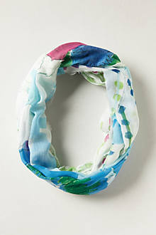 Floating Feathers Infinity Scarf
