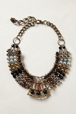 Batik Beaded Collar