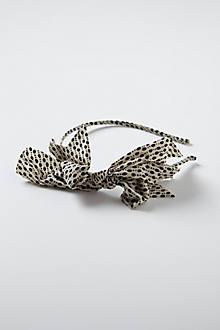 Retro Specked Bow Headband