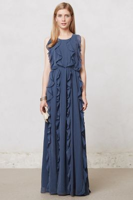 Ruffle Stream Maxi Dress