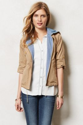 Cropped Hodded Anorak at Anthropologie image