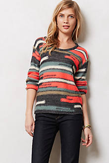 Staggered Stripe Pullover