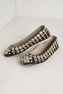 Jeweled Ballet Flats