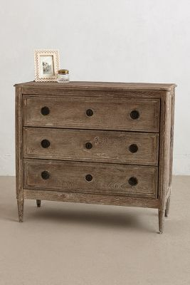 Washed Wood Three-Drawer Dresser