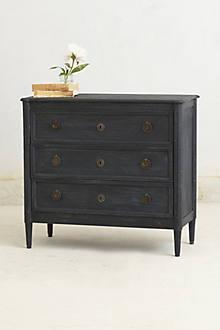 Washed Wood Three-Drawer Dresser